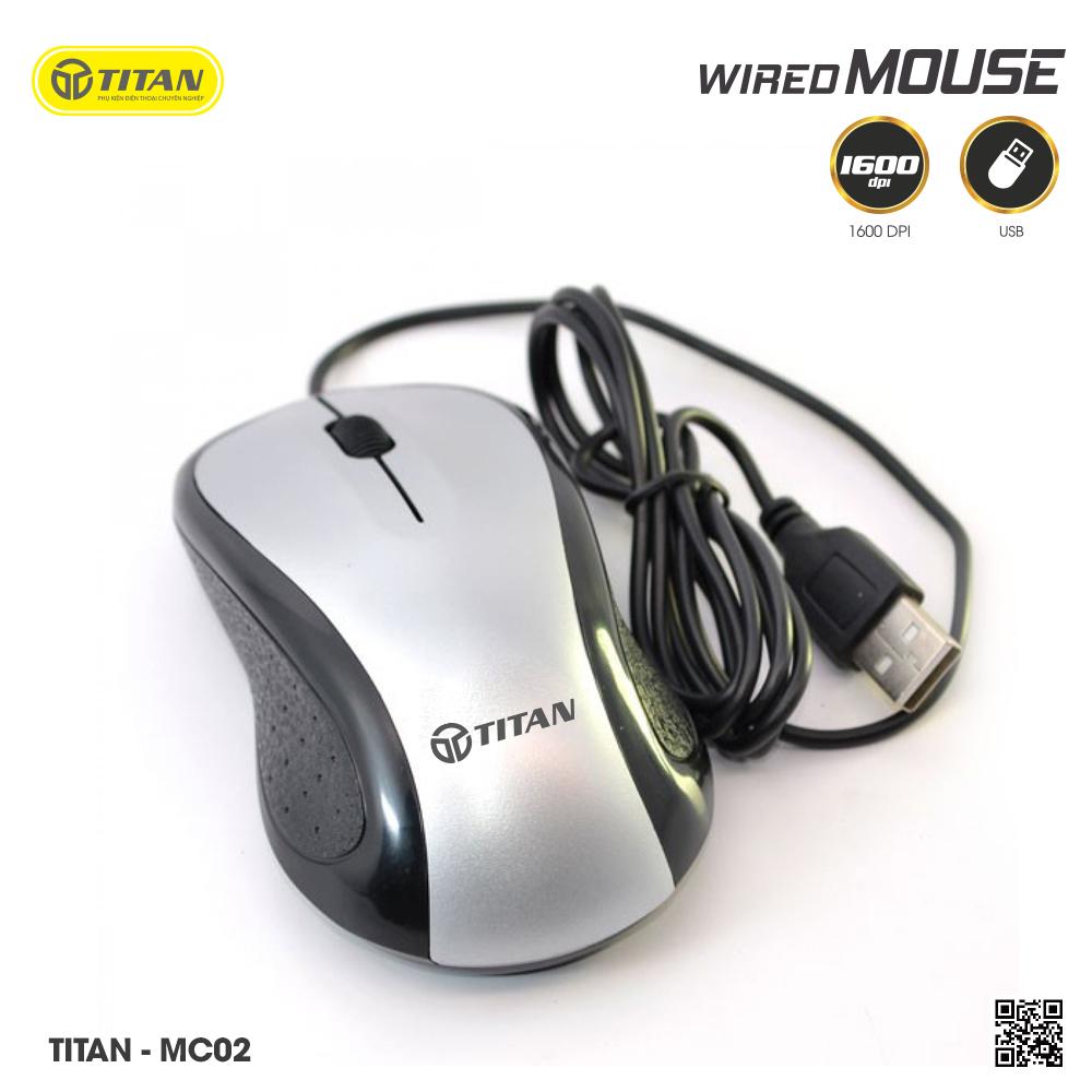 Chuột Quang Có Dây Titan MC02 - Bảo hành 12 tháng 1 đổi 1