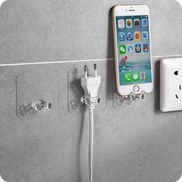 COMBO 02 móc dán tường giữ dây điện trong suốt loại 1