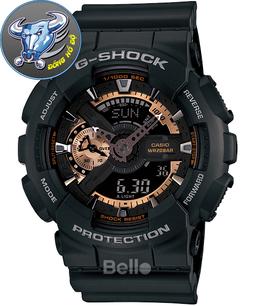 Đồng hồ casio G SHOCK GA110 Đen Mặt Đồng chống nước + Tặng kèm pin dự phòng