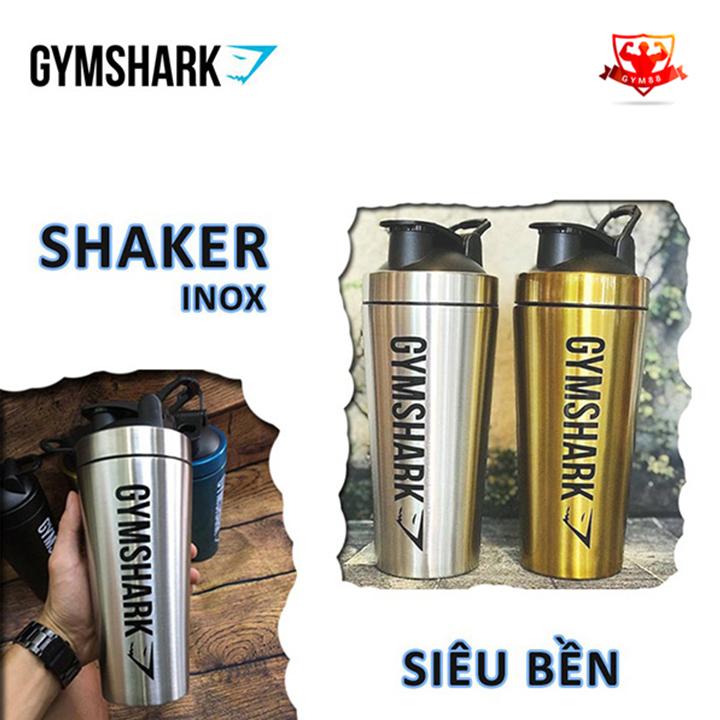 Bình nước tập gym gymshark inox cao cấp