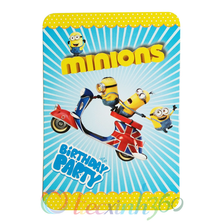 Combo 10 thiệp mời sinh nhật minions