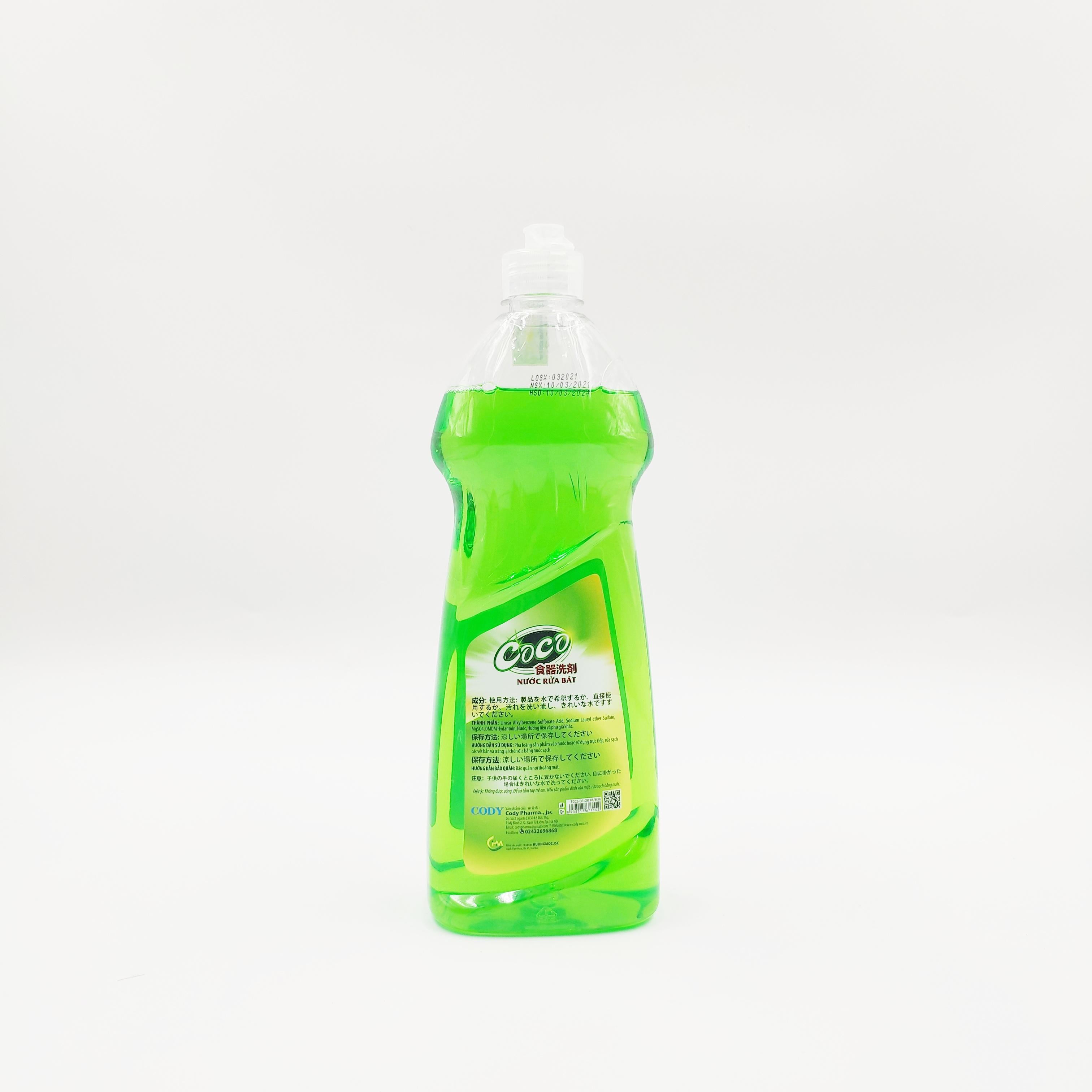⚡Đồng ship 15K⚡ Combo 2 chai nước rửa bát CoCo