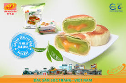 Bánh pía kim sa trà xanh