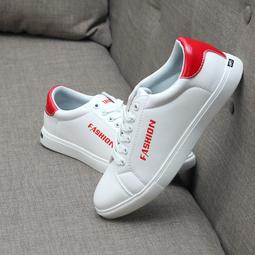 Giày sneaker nam- Giày cổ thấp Trắng- Gót Đỏ- Khuyến mãi cực lớn