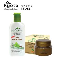 Bộ trị mụn Peppermint Facial Wash & Turmeric Golden Cream