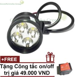 Đèn Led trợ sáng xe máy L4 CYT ( Tặng công tắc )
