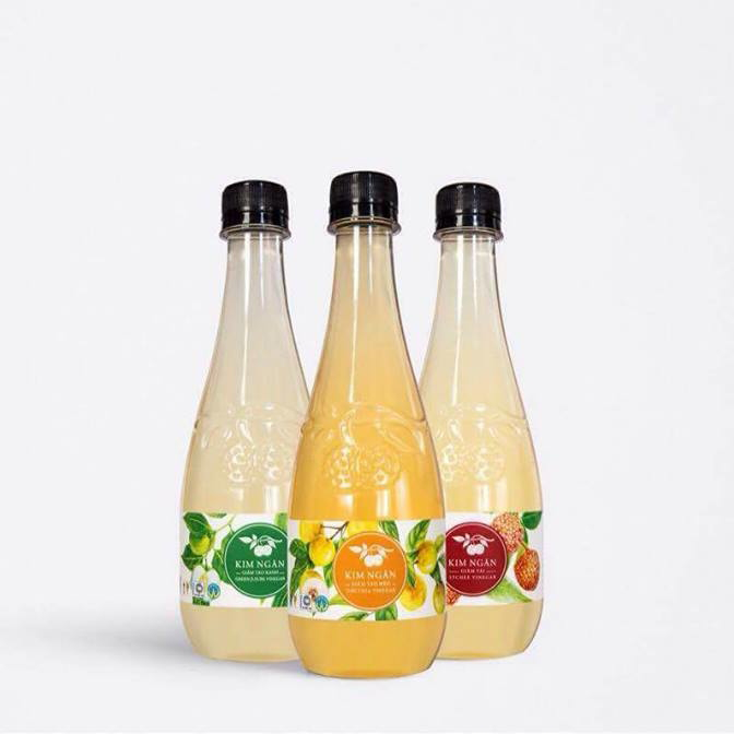 Combo 3 chai Giấm (Vải + Táo Mèo + Mơ) - Đặc sản Bắc Giang BGG - SP OCOP