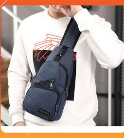 Túi đeo chéo nam thời trang + Kèm cổng sạc USB tiện lợi