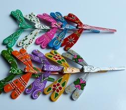Combo 10 con chuồn chuồn tre nhiều màu (kích thước 7cm)