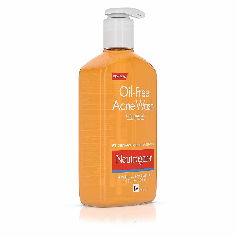 Sữa rửa mặt trị mụn Neutrogena Oil-Free Acne Fighting Facial Cleanser Salicylic Acid Acne Treatment 269ml