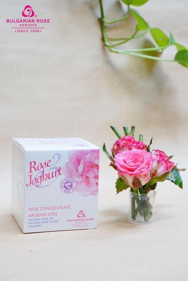 Kem dưỡng vùng mắt tinh chất hoa hồng & sữa chua
