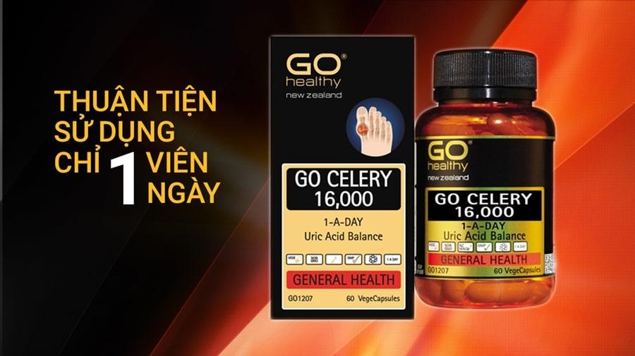 Viên gout GO CELERY 16000MG- Hộp 60 viên gút GO Celery 16000mg ...