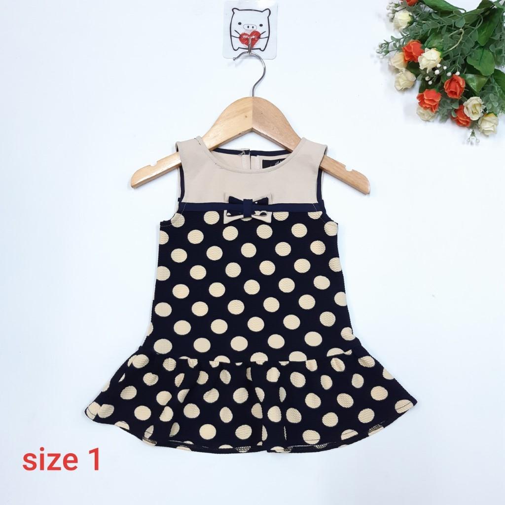 DG49-V-06- Váy bé gái chất thun xốp mỏng, thoáng mát, hình chấm bi , made in Việt Nam