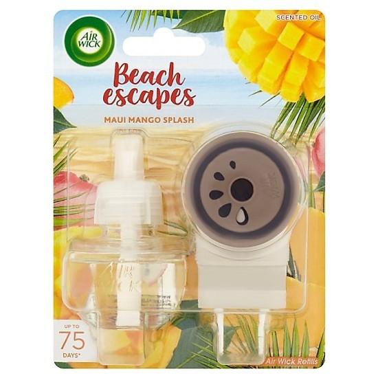 Bộ Tinh Dầu Cắm Điện Airwick AWK9821 Beach Escapes Maui Mango Splash 19ml (Hương xoài Maui)