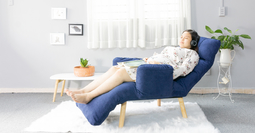 Queen Plus 360 - Ghế nằm thư giãn đọc sách đa năng cho bà bầu và người lớn tuổi [ Màu Xanh]