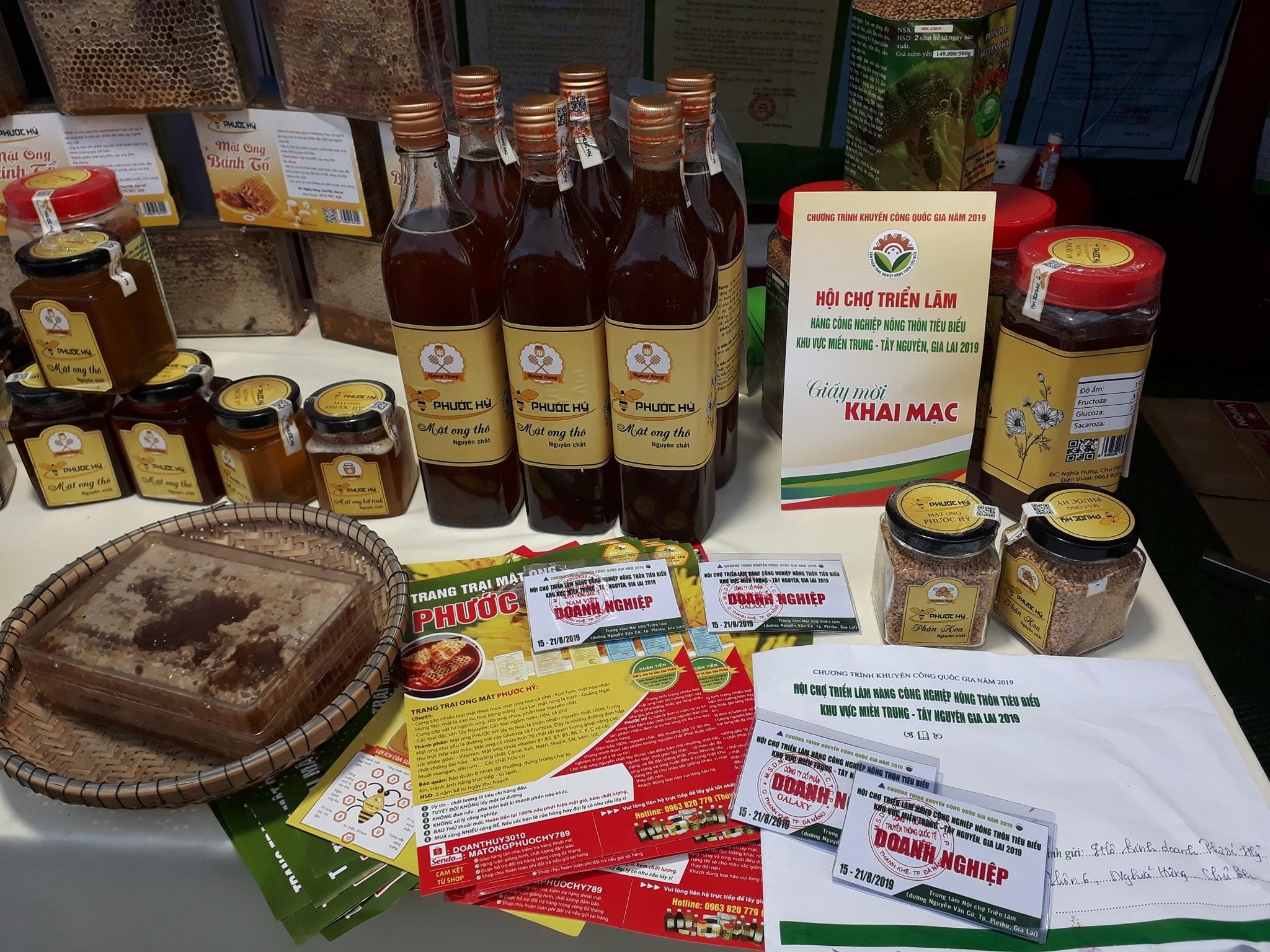 mật ong nguyên chất Phước Hỷ 600g