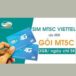 Sim 4G-3G Viettel MT5C 3GB-Ngày Với 5.000đ
