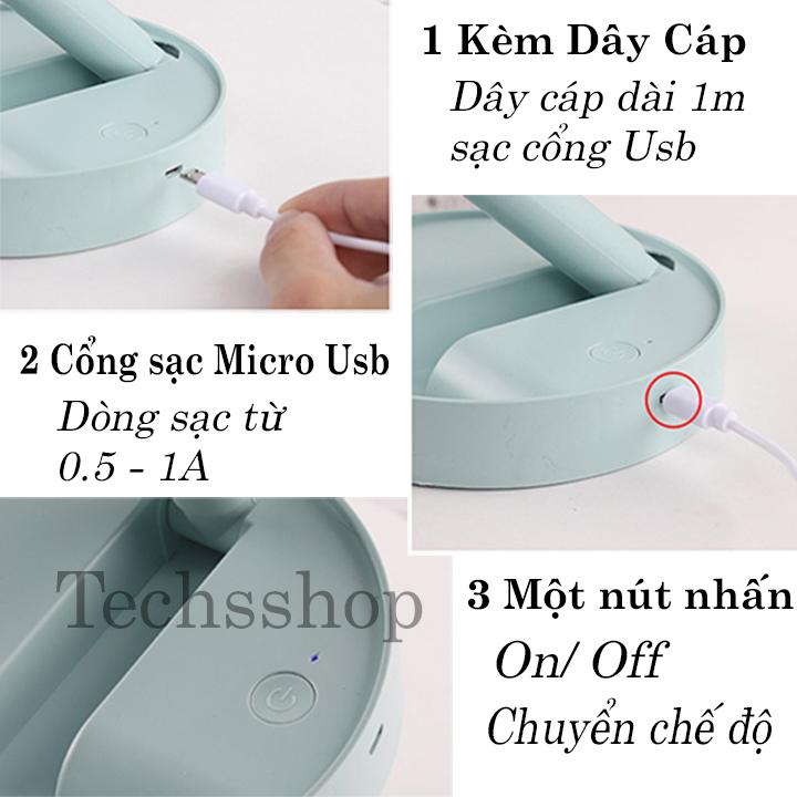 Quạt Mini Để Bàn Gấp Gọn Usb Pin Sạc XM66 - Folding Usb Fan