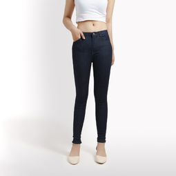 Quần jean nữ skinny xanh đen kim tuyến