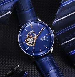 Đồng hồ nam SENARO Powermatic 88017 Open Heart máy cơ - Thương hiệu Nhật Bản chính hãng