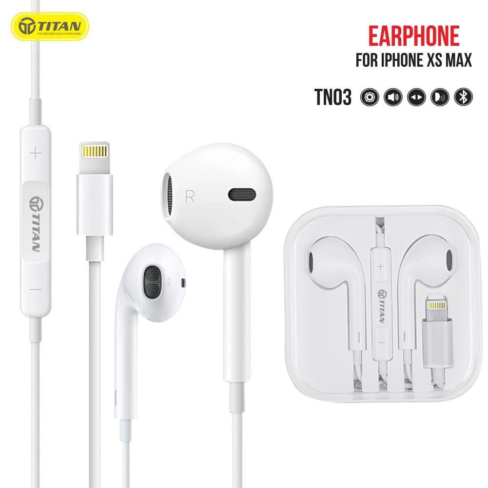 Tai nghe TITAN TN03 Bluetooth chân Lightning dùng cho các máy iPhone & iPad (BẢO HÀNH 12 THÁNG)