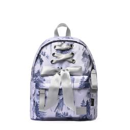 Balo Nữ Mini Có Nơ 12inch Mr.ace Homme MR19A1494B01 / Thông xanh nền trắng