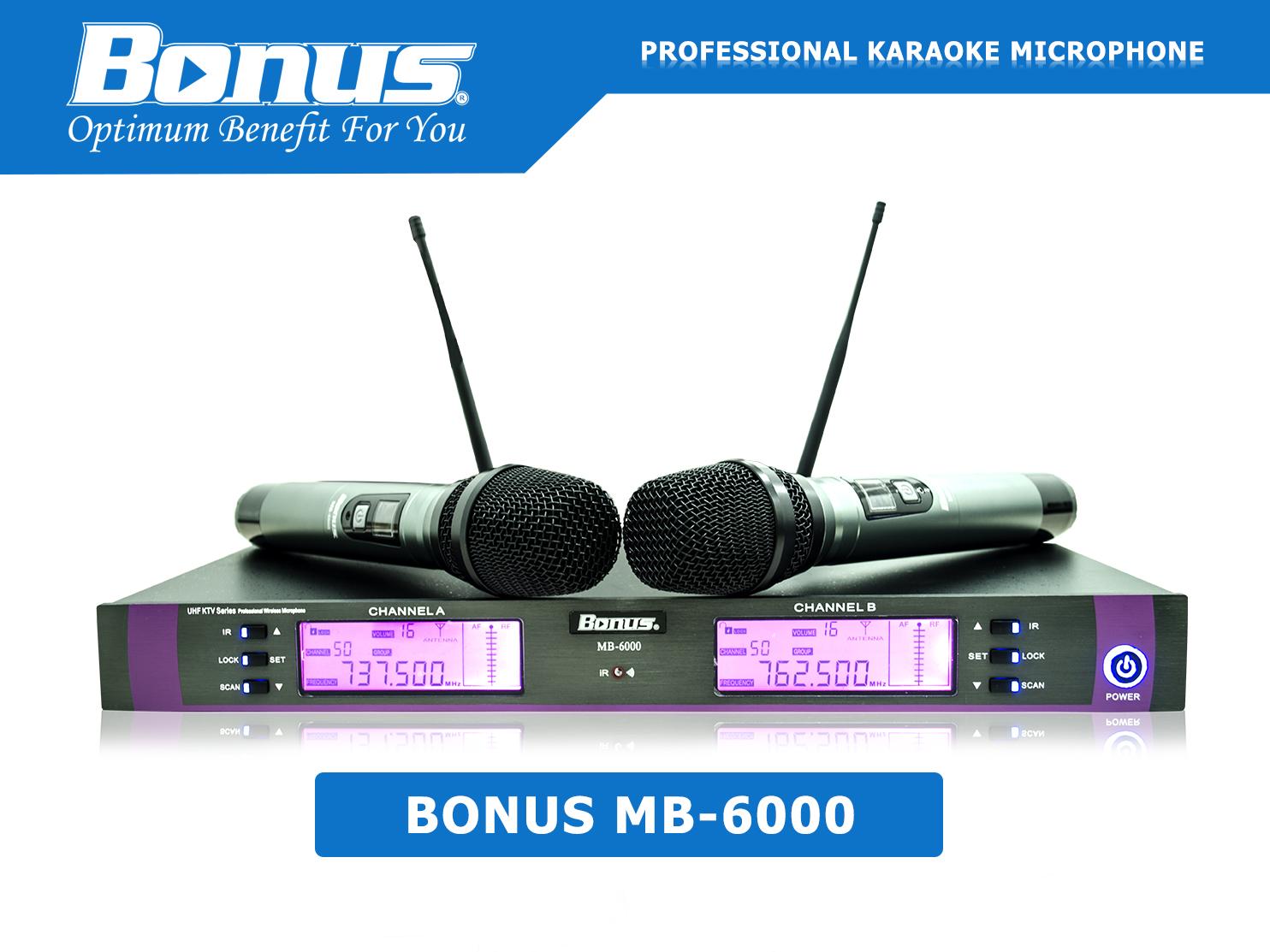 Micro karaoke Bonus Audio MB-6000 không dây