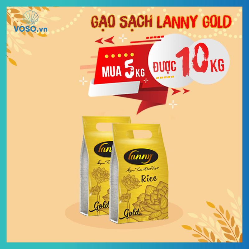 Gạo Lanny Gold màu vàng, túi 5kg (Áp dụng mua 1 tặng 1)