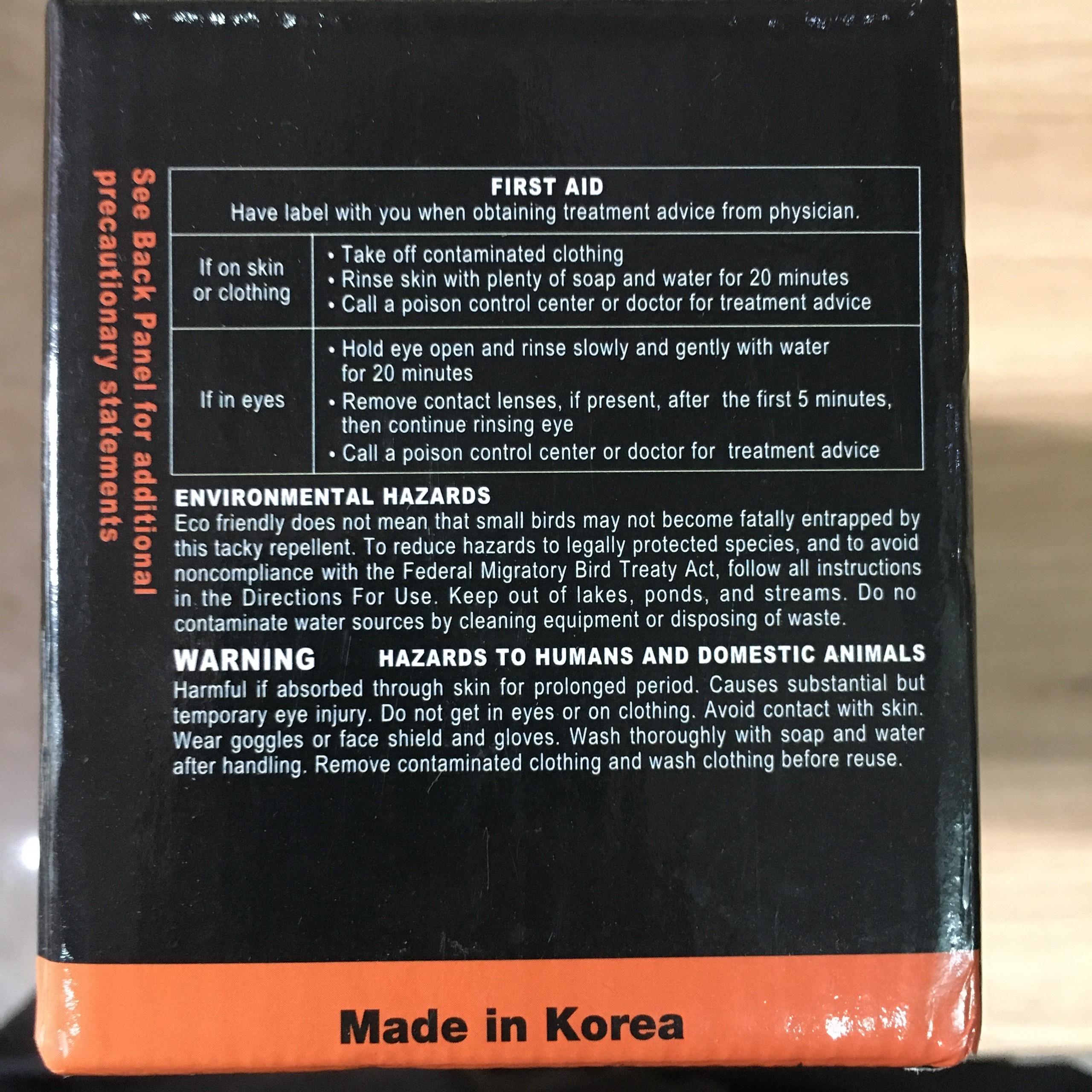 Hộp Gel Đuổi Chim Bồ Câu, Chim Gây hại - Hộp 15 Khay (Hàn Quốc)