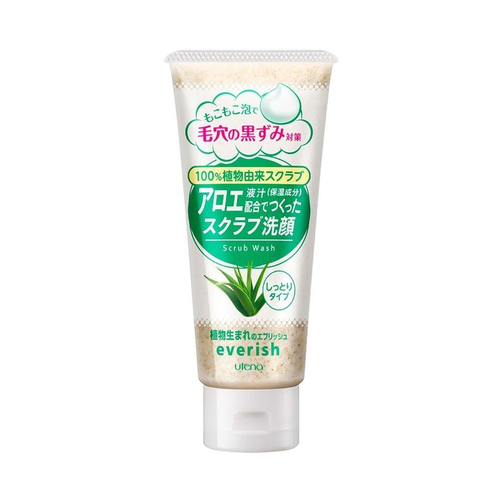 Sữa Rửa Mặt Tẩy Tế Bào Chết Utena Everish Nhật Bản 135g