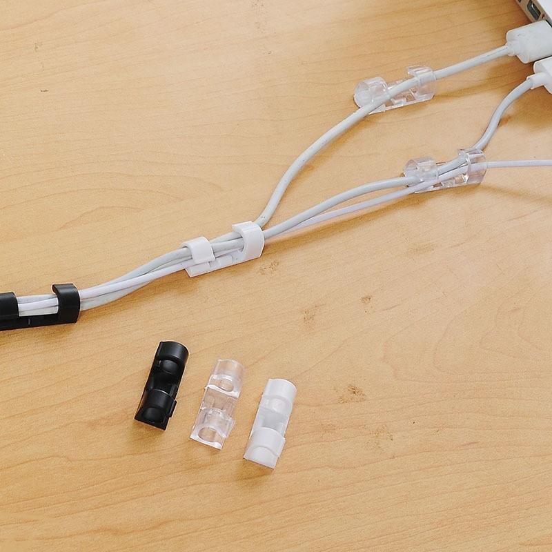 COMBO 5 Bộ 20 kẹp dán kẹp giữ dây điện,dây cáp sạc điện thoại,tiện ích,an toàn