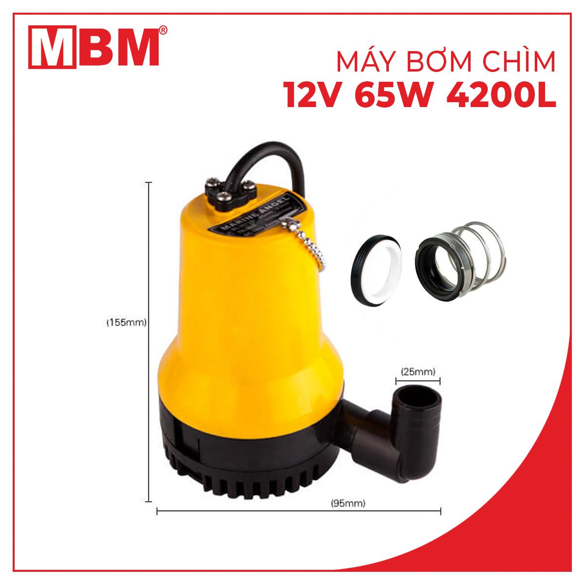 Máy bơm chìm mini 12V 65W 4200L