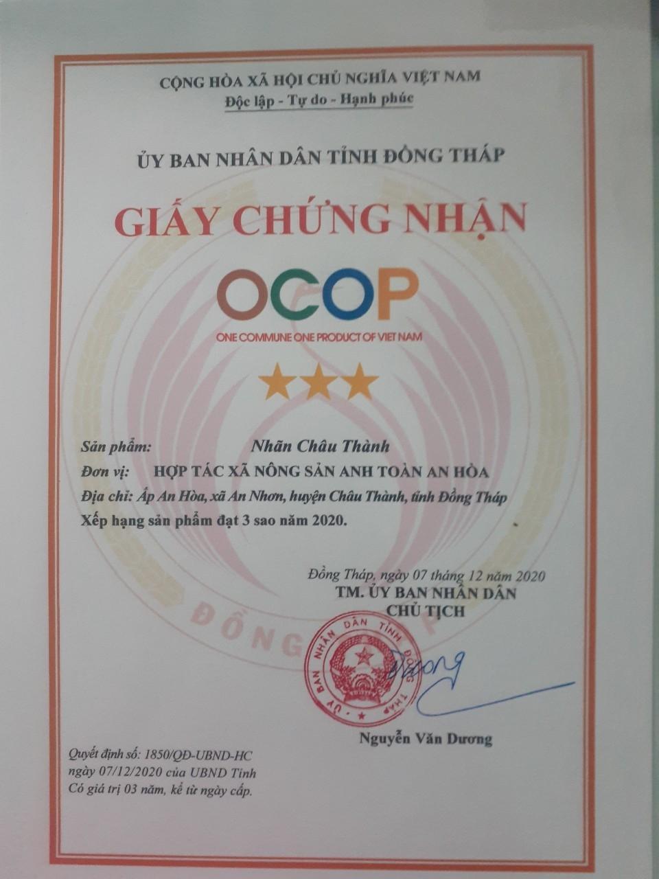 Nhãn Châu Thành Đồng Tháp (Combo 3kg)