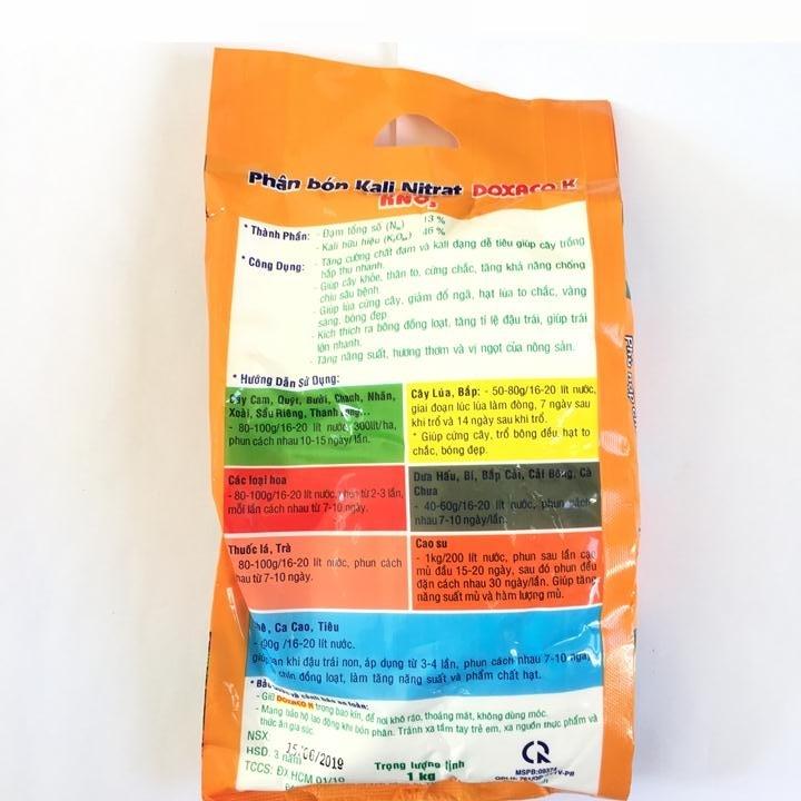Phân bón Kali Nitrat KNO3 gói 1kg, kích ra hoa cho cây trồng