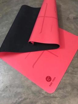 Thảm pido PU 5mm định tuyến cao su 100% - Màu đỏ( tặng túi+ dây buộc)
