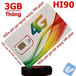Sim 4G Viettel HI90, 3GB/Tháng, Gọi Miễn Phí Nội Mạng-Ngoại Mạng-Tin Nhắn