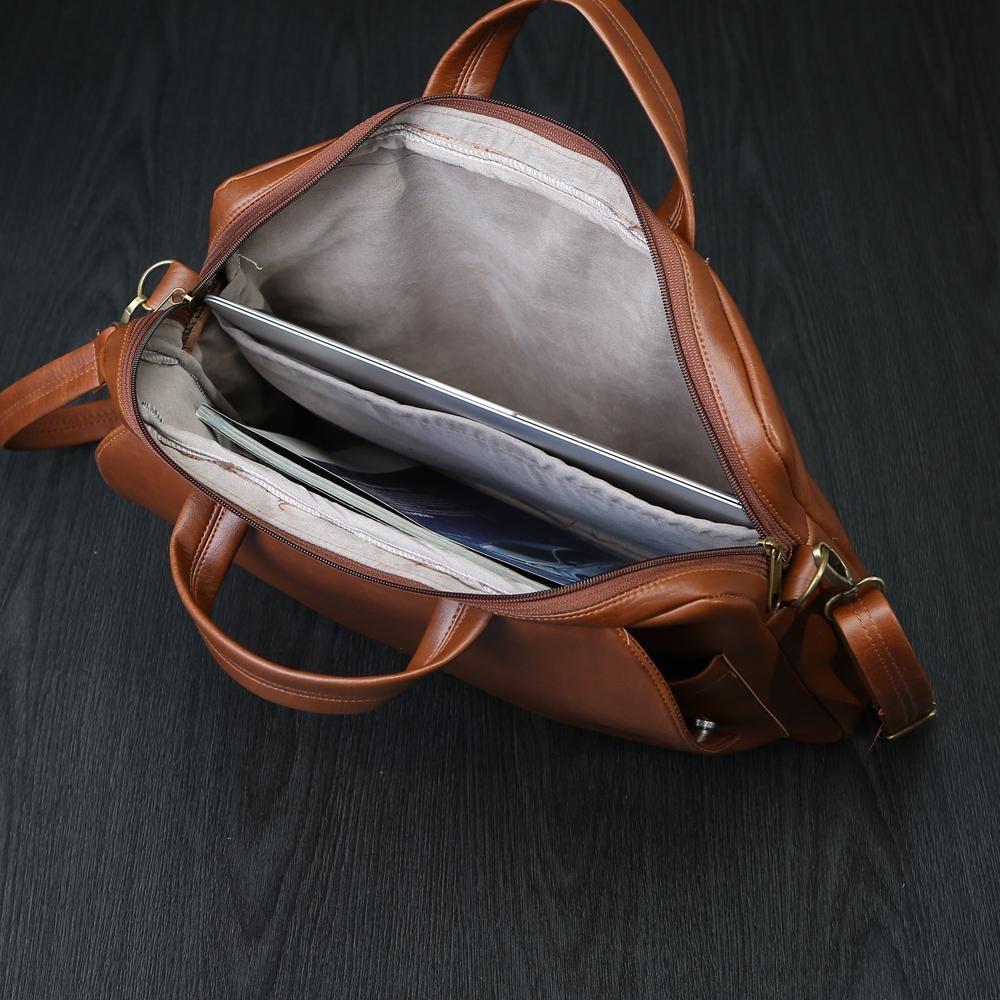 Túi công sở KÈM túi đeo chéo cao cấp HANAMA G8- S18 VÀNG BÒ