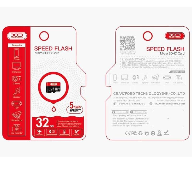 Thẻ nhớ chính hãng XO class 10 - 4Gb Mới 100%
