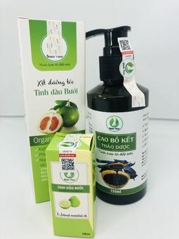 Combo dầu gội thảo  dược, xịt bưởi dưỡng tóc, tinh dầu bưởi kích thích mọc tóc.