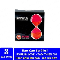BAO CAO SU FOUR IN LOVE 4IN1 HỘP 3 BAO