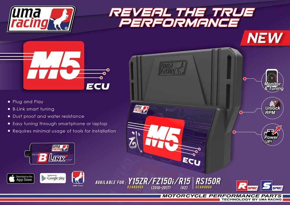ECU UMA RACING M5 – BLUTOOTH CONNECTION TUNING CHO EXCITER 150, MX