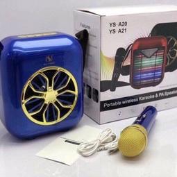 Loa Karaoke Bluetooth Tặng kèm Micro không dây YS A20 Xanh