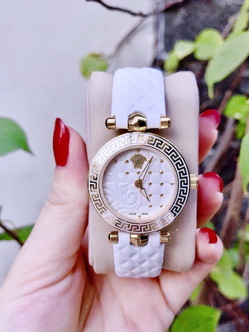 Đồng Hồ Versace Micro Vanitas - Dây Trắng