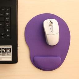Miếng lót chuột EVA PU có đệm êm giảm mỏi tay hình oval nhỏ gọn, tiết kiệm không gian bàn làm việc - màu tím MLC34