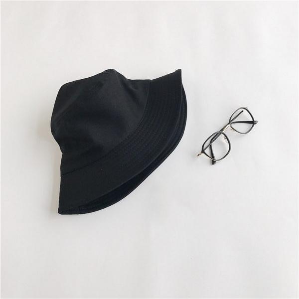 Nón bucket đen trơn Hàn Quốc NK482, Mũ tai bèo Bucket trơn thời trang dành cho cả nam và nữ màu đen