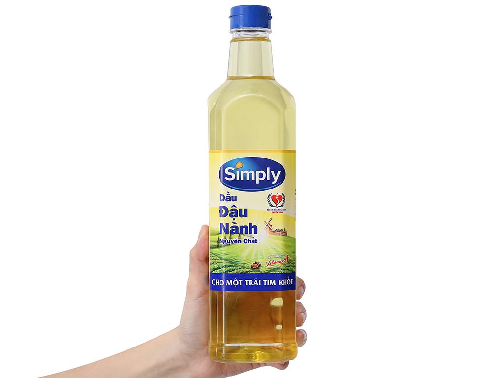 Dầu đậu nành nguyên chất Simply 1 lít