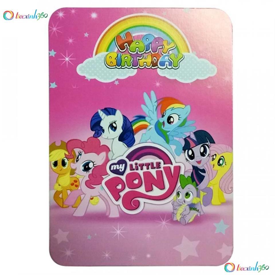 Combo 10 thiệp mời sinh nhật Pony