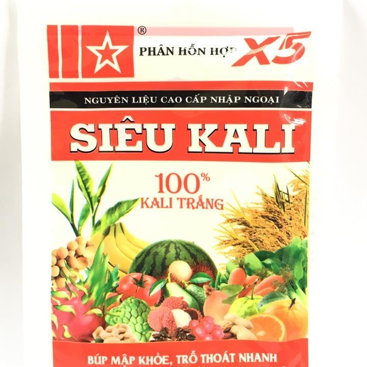 Phân bón hỗn hợp siêu kali X5 siêu ra hoa, siêu đậu quảcho cây trồng gói 40g