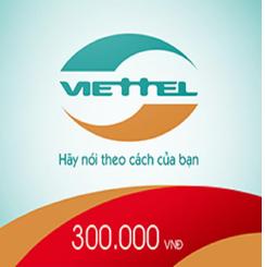 THẺ CÀO VIETTEL MỆNH GIÁ 300..000