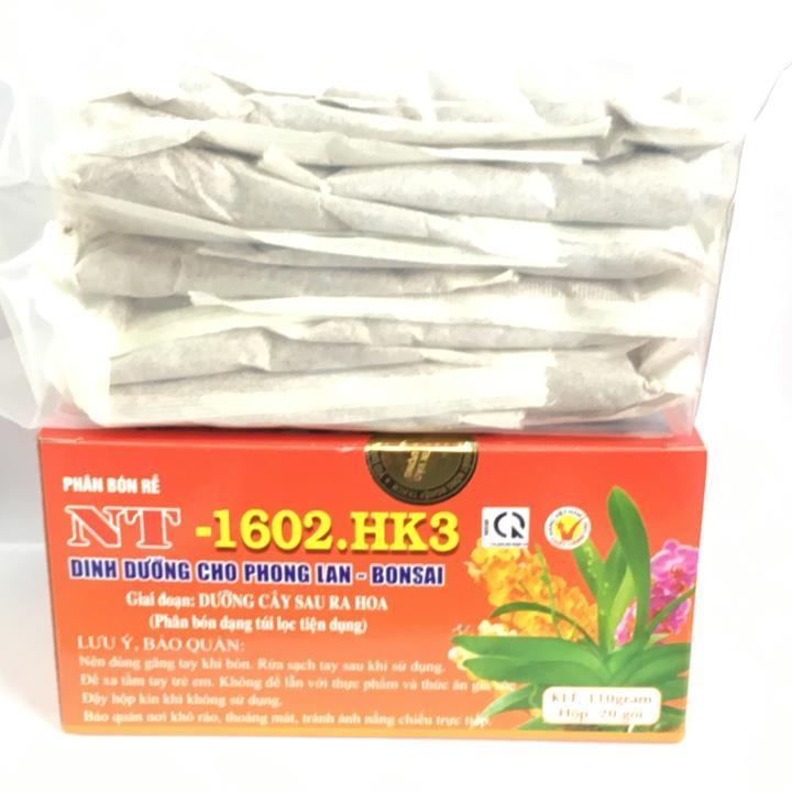 Phân bón rễ dạng túi lọc tiện dụng NT-1602.HK3 chuyên dùng cho phong lan, cây cảnh dưỡng cây sau khi ra hoa